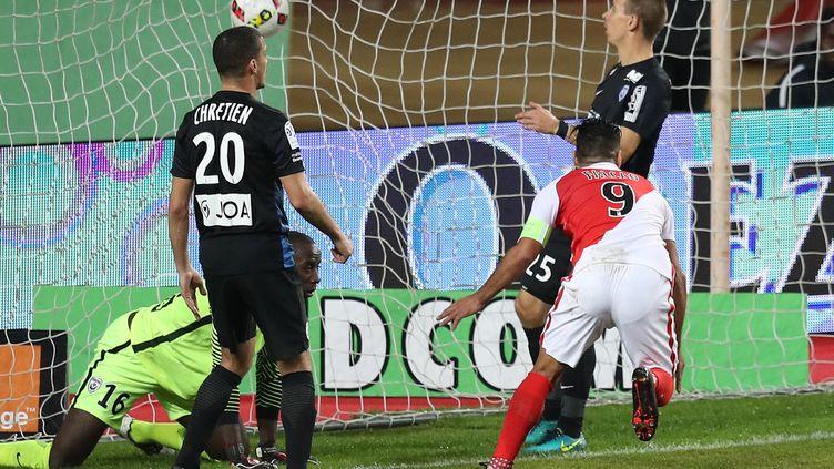 Falcao marque contre Nancy (VALERY HACHE / AFP)