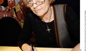 Claire Bretécher lors du Salon du livre à Paris, le 23 mars 2006. (BALTEL / SIPA)