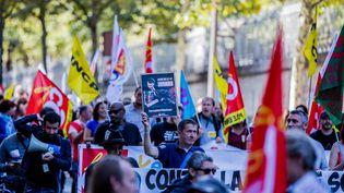 Manifestation contre la réforme du Code du travail à Paris, le 21 septembre 2017. (MAXPPP)