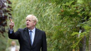 Boris Johnson, pressenti pour devenir Premier ministre britannique, samedi 13 juillet 2019 à Braintree (Grande-Bretagne). (NEIL HALL / AFP)