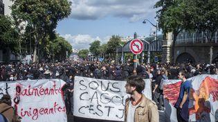Manifestation contre la réforme du Code du Travail, le 12 septembre 2017, à Paris. (GREG LOOPING / HANS LUCAS)