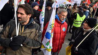 Manifestation d'enseignants contre la réforme du bac, le 24 janvier 2019 à Toulouse. (THIERRY BORDAS / MAXPPP)