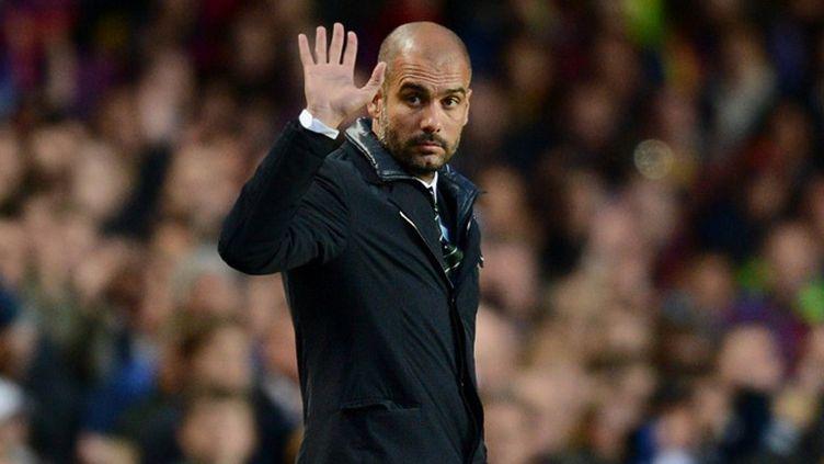 La der' de Pep Guardiola sur le banc de Barcelone (ADRIAN DENNIS / AFP)