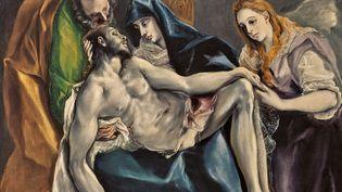 "Greco (Domínikos Theotokópoulos), ""Pietà"" (détail) 1580-1590, collection particulière (© collection particulière)"