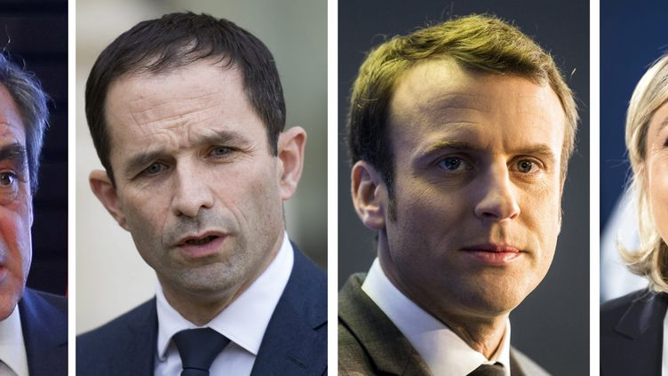 François Fillon, Benoît Hamon et Emmanuel Macron. (MAXPPP)