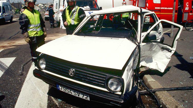 Trois cent quarante deux personnes sont mortes sur les routes de France en août 2012, soit une baisse de 7,6% par rapport au mois d'août 2011, selon la Sécurité routière. (GILE MICHEL/SIPA)