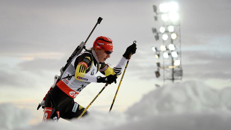 La Slovaque Anastasiya Kuzmina (JONATHAN NACKSTRAND / AFP)