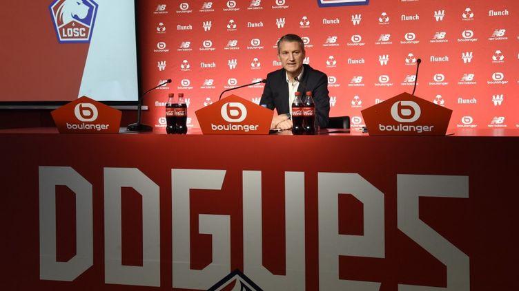 Olivier Létang, nouvellement nommé président du LOSC (FRANCOIS LO PRESTI / AFP)