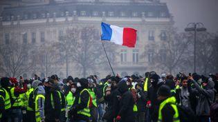 """La manifestation parisienne des """"gilets jaunes"""" le 1er décembre 2018. (- / AFP)"""