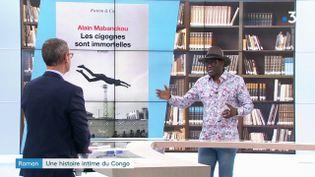 Alain Mabanckou et son livre (France 3)