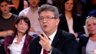 Jean-Luc Mélenchon sur le plateau de France 2, le 23 février 2017. (FRANCE 2)