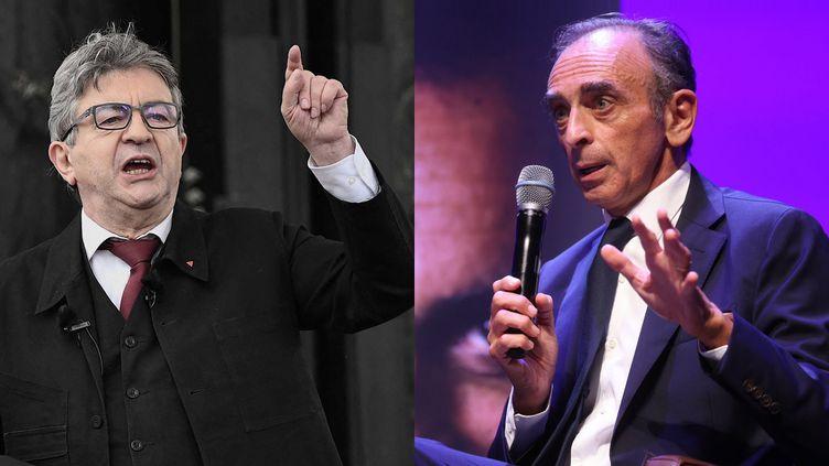 Jean-Luc Mélenchon / Eric Zemmour (LIONEL BONAVENTURE / AFP / MAXPPP)