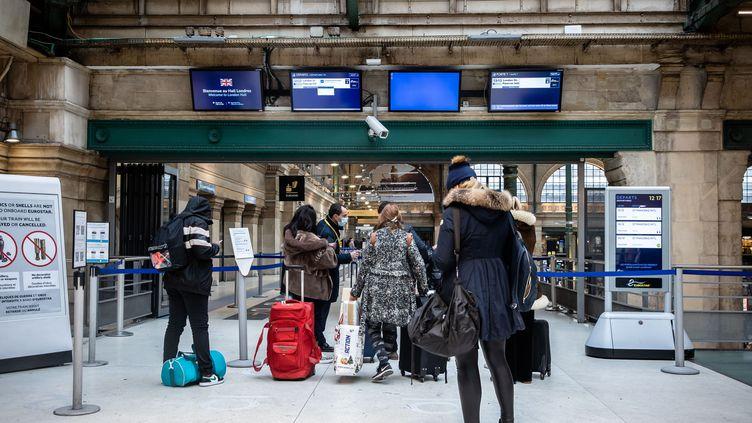 Le terminal des Eurostar à la gare du Nord, à Paris, le 21 décembre 2020 (illustration) (AURELIEN MORISSARD / XINHUA)