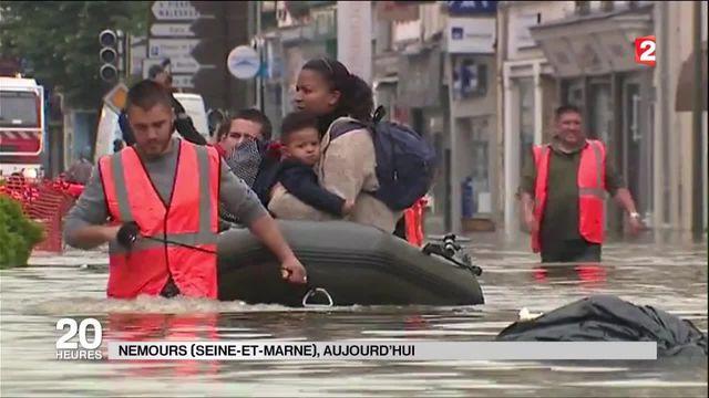 Intempéries : la commune de Nemours évacuée
