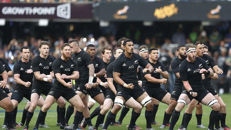 Le Haka réalisé par les All Blacks avant chaque match (GIANLUIGI GUERCIA / AFP)