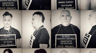 """Johnny Depp et Peter Gabriel, ainsi que plusieurs autres artistes ont prêté leur visage à la campagne """"Voice Project""""  (Voice Project)"""