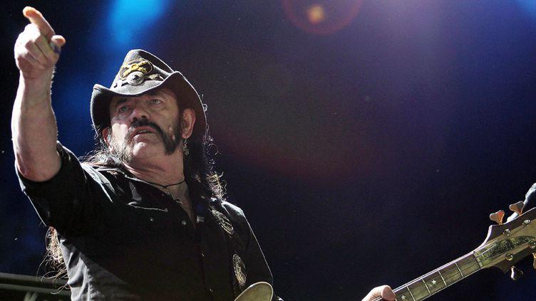Lemmy Kilmister, chanteur et bassiste de Motörhead, au festival Rock in Rio le 25 septembre 2011  (Wilton Junior / AE / Agência Estado)