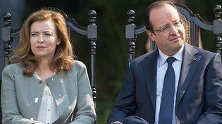 Valérie Trierweiler et François Hollande en 2013  (BERTRAND LANGLOIS / AFP)
