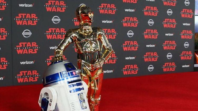 C3PO et R2D2, stars de la saga lors de l'avant-première de l'épisode VIII : Les Dernier Jedi en 2017.  (FPA / Full Picture Agency)