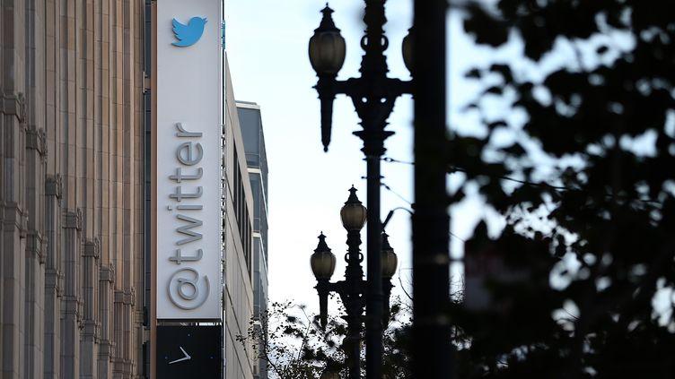 Le siège social de Twitter, à San Francisco (Californie, Etats-Unis), le 25 octobre 2013. (JUSTIN SULLIVAN / GETTY IMAGES NORTH AMERICA / AFP)