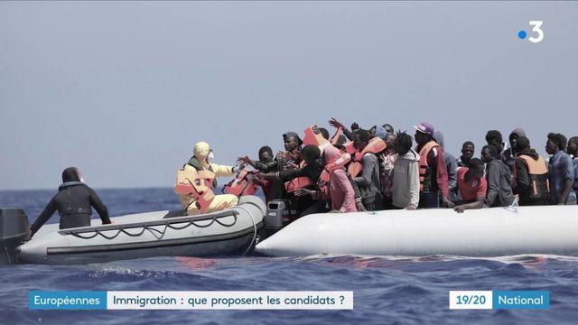 Européennes : les propositions des candidats en matière d'immigration