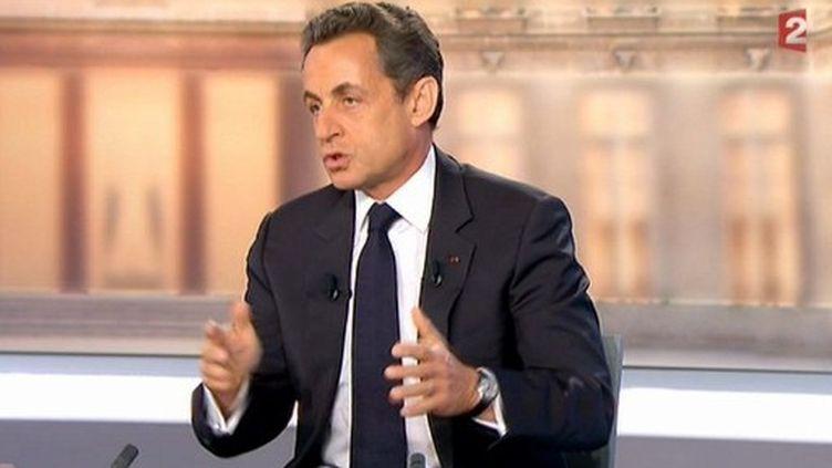 Nicolas Sarkozy (3 mai 2012) (- / FRANCE 2 / AFP)