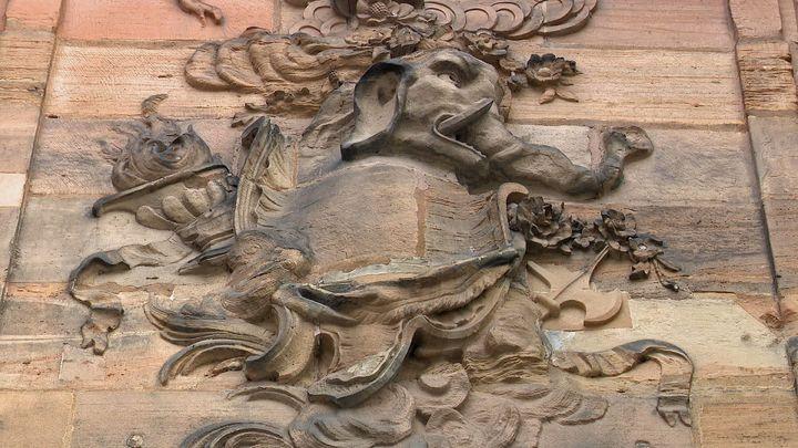 Éléphant sur le palais Rohan de Strasbourg (France 3 Alsace)
