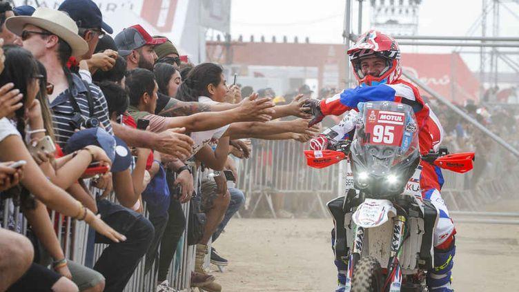 Un motard du Dakar. (FREDERIC LE FLOC'H / DPPI MEDIA/ASO)