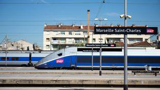 Un TGV SNCF en gare de Marseille Saint-Charles, en juin 2014. (Photo d'illustration) (BERTRAND LANGLOIS / AFP)