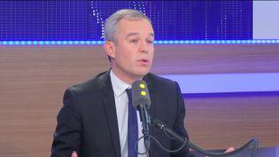 François de Rugy, député écologiste et candidat à la primaire à gauche, invité du 8h30 politique le samedi 20 novembre 2016. (FRANCEINFO / RADIOFRANCE)
