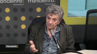 Patrick Chauvel, correspondant de guerre, photographe et réalisateur de documentaires. (CAPTURE ECRAN / FRANCEINFO)