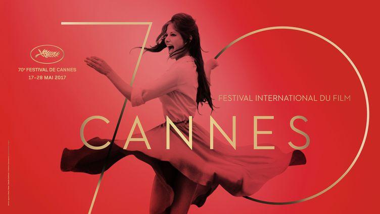 L'affiche du 70e Festival de Cannes, dévoilée le 29 mars 2017. (PHILIPPE SAVOIR / ARCHIVIO CAMERAPHOTO EPOCHE / AFP)