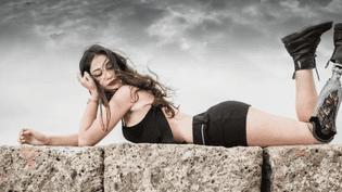 Chiara Bordi, dauphine de Miss Italie malgré son handicap (CAPTURE ECRAN FRANCE 2)