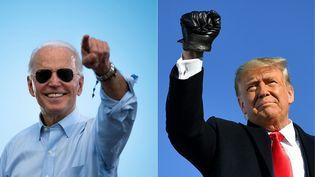 Joe Biden et Donld Trump, les deux candidats à la présidentielle américaine 2020. (JIM WATSON / AFP)