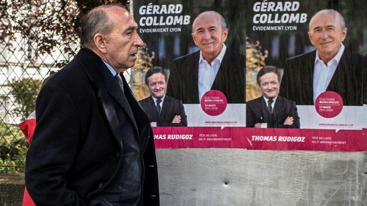 Le maire socialiste de Lyon, Gérard Collomb, le 23 mars 2014. (JEFF PACHOUD / AFP)