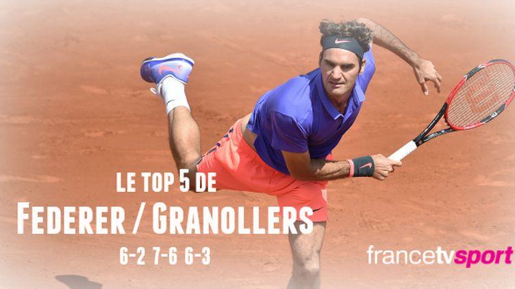 Roger Federer s'est qualifié tranquillement pour le 3e tour de Roland-Garros.