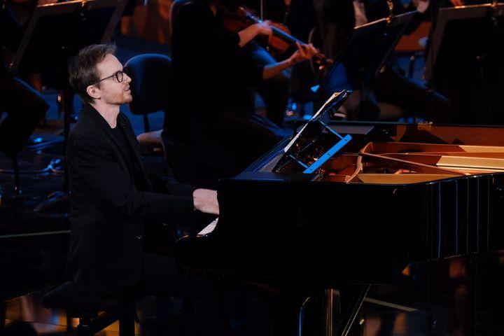 Le pianiste Alexandre Tharaud aux Victoires de la musique classique à Lyon, le 24 février. (NICOLAS ROBIN - FTV)