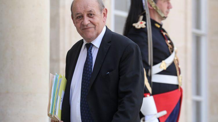 Jean-Yves Le Drianarrive à l'Elysée (Paris), le 22 juillet 2019. (LUDOVIC MARIN / AFP)