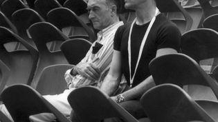 Le chorégraphe Maurice Béjart et le créateur du festival d'Avignon, Jean Vilar (AFP)