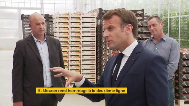 Coronavirus : l'hommage d'Emmanuel Macron à ceux qui nourrissent les Français