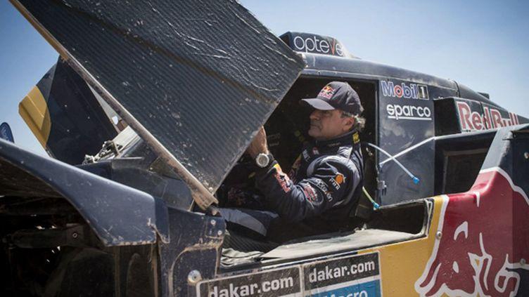 Carlos Sainz (SMG) à la portière de son buggy