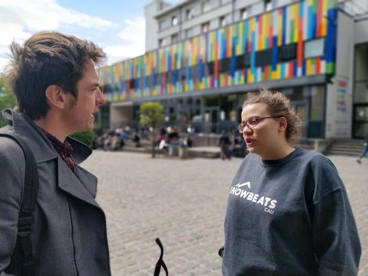 Chems Mabrouk,présidente des étudiants francophones à Buxelles (Belgique). (ERIC AUDRA / RADIO FRANCE)