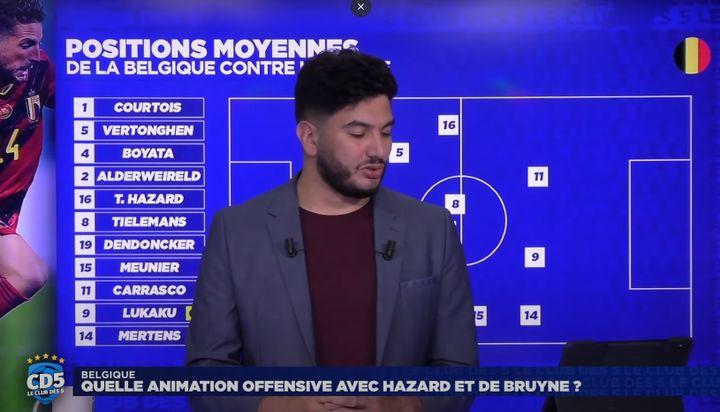 """Aperçu du programme de football """"Le club des 5"""" diffusé sur YouTube, le 13 juin 2021. (YOUTUBE)"""