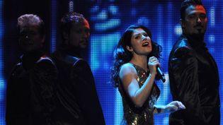 La Portugaise Filipa Sousa est restée dans l'ombre des demi-finales de l'Eurovision 2012 (25/5/2012)  (Vyacheslav Oseledko / AFP)