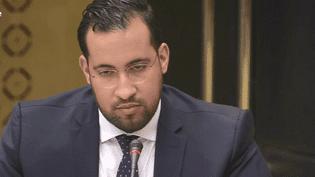 Alexandre Benalla lors de son audition parlementaire au Sénat, mercredi 19 septembre 2018. (FRANCEINFO)