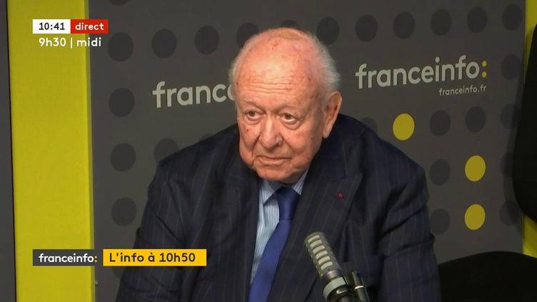L'ancien maire de Marseille, Jean-Claude Gaudin, invité de franceinfo le 30 mars 2021. (FRANCEINFO / RADIOFRANCE)