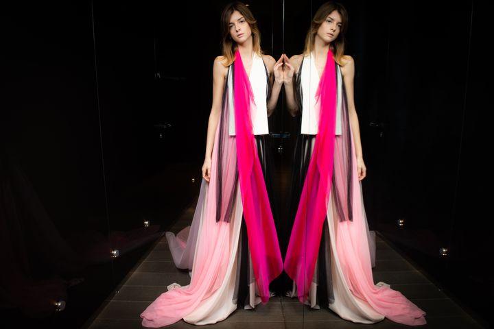 Aélis couture printemps-été 2021, à Paris, le 28 janvier 2021 (MARTIN BUREAU / AFP)