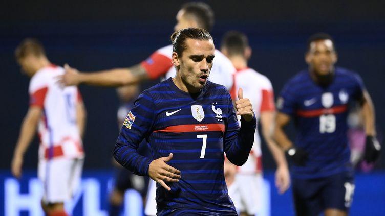 Antoine Griezmann a inscrit son 33e but avec les Bleus (FRANCK FIFE / AFP)