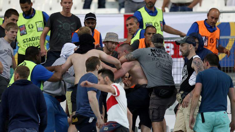 Le Vélodrome a été le théâtre de bagarres entre supporters lors d'Angleterre-Russie (VALERY HACHE / AFP)