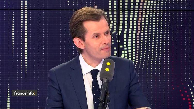 Guillaume Larrivé, député LR de l'Yonne, le 4 février 2019 sur franceinfo. (FRANCEINFO)